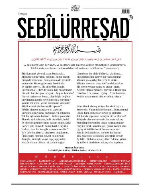 Sebilürreşad Dergisi Sayı:1031 Ağustos 2018