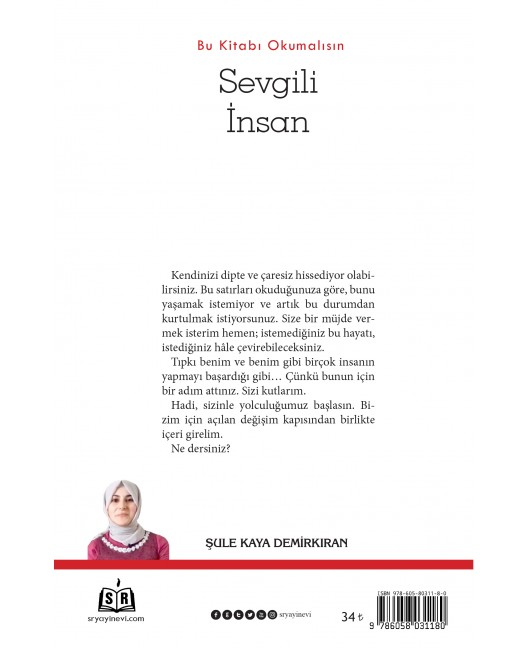 SR009/ SEVGİLİ İNSAN - BU KİTABI OKUMALISIN/ŞULE KAYA DEMİRKIRAN
